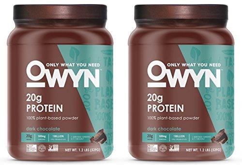 OWYN 100% Plant-Based Vegan Allergen-Friendly Protein-Powder, 28 Servings, 2 Count (Dark Chocolate)