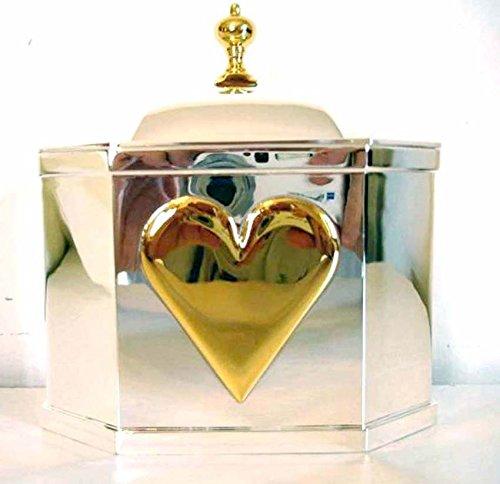 Lenox Williamsburg Wedding Promises Heart Box Octagonal Silverplate New