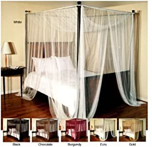 Generic olor:Randomedroom Airy Large Bedroom Four-Poster or Airy Mosquito Net Ceiling Mount Bed Canopy Color:Random Four-Poster