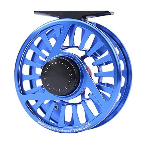 Fly Fishing Reel 3/4/5/6/7/8WT Machined Aluminium Micro Adjusting Drag Fly Reel,Blue Reel,7000 Series ()