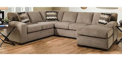 Chelsea Home 2 Pc Sectional Sofa Set In Perth Pewter