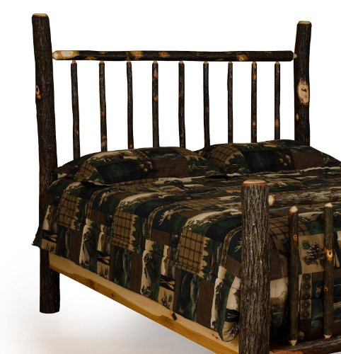 Rustic Hickory Mission Bed - Headboard Only - Full Size- Amish Made