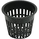 Hydroplanet trade; Net Cup,Orchids,Aquaponics,Aquaculture,Hydroponics Slotted Mesh 3-Inch,50PAC, 100PAC (50 pack)