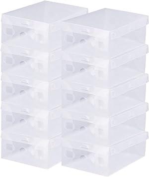 BUZIFU Cajas de Zapatos Transparentes, 20 unids Cajas Plastico Zapatos, Caja para Zapatos Apilable, Hasta La Talla 42, Caja para Guardar Calzado de Muchos Tipos, Zapatillas, Tacones, Botas Cortas: Amazon.es: Bricolaje y