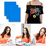 Heat Transfer Iron On Vinyl for T-Shirts, 3 Pack