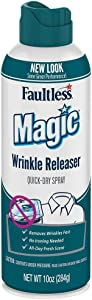 Magic Wrinkle Releaser Say No to Ironing, Perfect for Travelers, Moms or Those On The Go, Static Electricity Remover + Fabric Refresher + Odor Eliminator + Wrinkle Remover, Fresh Scent