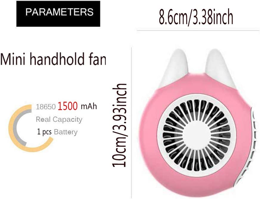 Mini USB Wristband Fans Handheld Portable Outdoor Rechargeable Small Cooling Personal Pocket Fans for Home Office Desk Summer Travel Camping
