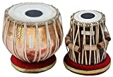 Concert Tabla Drum Set, 5½ Kg Lacquer Polish Copper Bayan, Maharaja, Finest Dayan with Padded Bag, Book, Hammer, Cushions & Cover (PDI-BJJ)