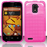 zte warp 4g boost mobile - 3-in-1 Bundle For ZTE Warp 4G - Soft Rubber TPU GEL Skin Candy Case (Hot Pink)+ICE-CLEAR(TM) Screen Protector Shield(Ultra Clear)+Touch Screen Stylus