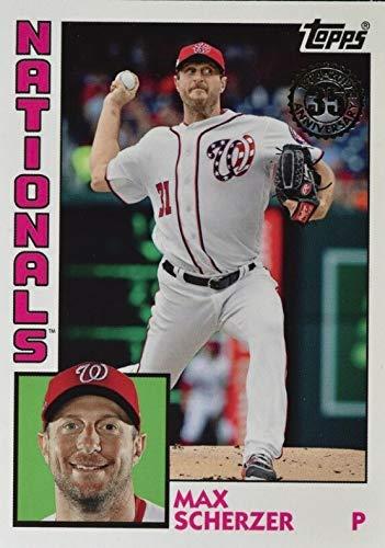 (2019 Topps Series 1 - Max Scherzer - 1984 Topps 35th Anniversary Throwback - Washington Nationals Baseball Card #T848)