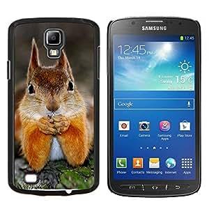 KLONGSHOP // Cubierta de piel con cierre a presión Shell trasero duro de goma Protección Caso - Ardilla linda - Samsung Galaxy S4 Active i9295 //