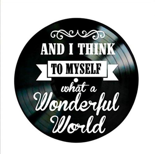 What A Wonderful World Song Lyrics On A Vinyl Record Album