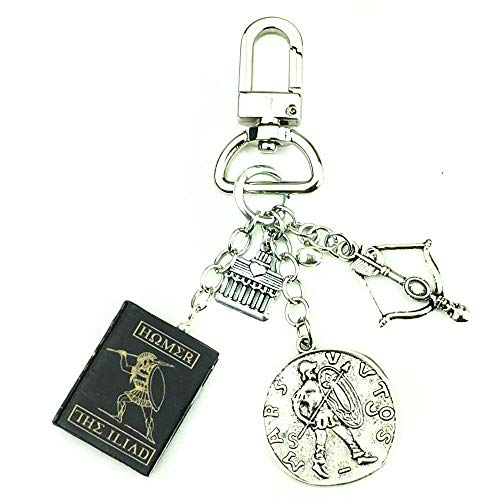 THE ILIAD Homer Clay Mini Book Bag Purse Backpack Clip Key Chain Ring Carabiner Clasp Trigger ()