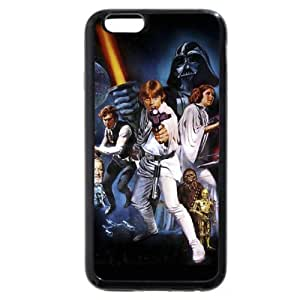 UniqueBox - Customized Personalized Black Soft Rubber(TPU) iPhone 6 4.7 Case, Star Wars iPhone 6 4.7 case, Star Wars Han Solo, Death Star, Darth Vader, Logo iPhone 6 4.7 case, Only fit iPhone 6 4.7