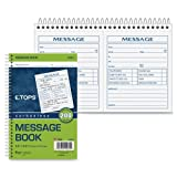 Wholesale CASE of 20 - Tops Two Part Important Message Book-Important Message Book,8-1/2''x5-1/2'',200 Sets,WE/CY Paper