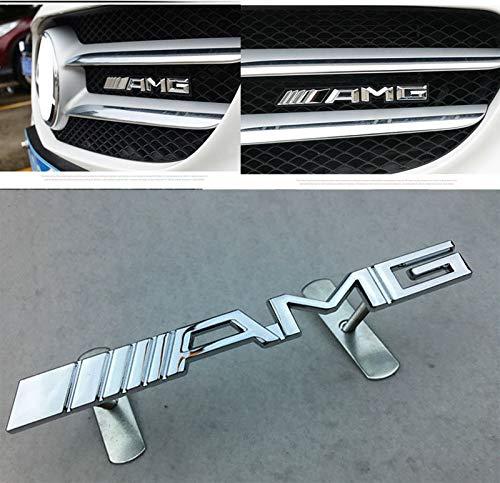 [해외]XL 새로운 AMG 그릴 배지 벤츠 메르세데스 메탈 프론트 그릴 엠블럼 스티커 / XL New AMG Grill Badge for Benz Mercedes Metal Front Grille Emblem Stickers