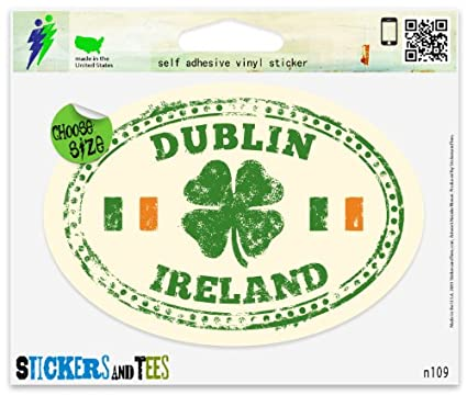 Dublin ireland travel vinyl car bumper window sticker 3
