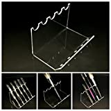 (100 Pcs) Beauticom 5-Slots Premium Clear Acrylic Pen/Vaporizer/Nail Brush/ Makeup Brush Display Holder Stand. Suitable For Home Or Office Usage.
