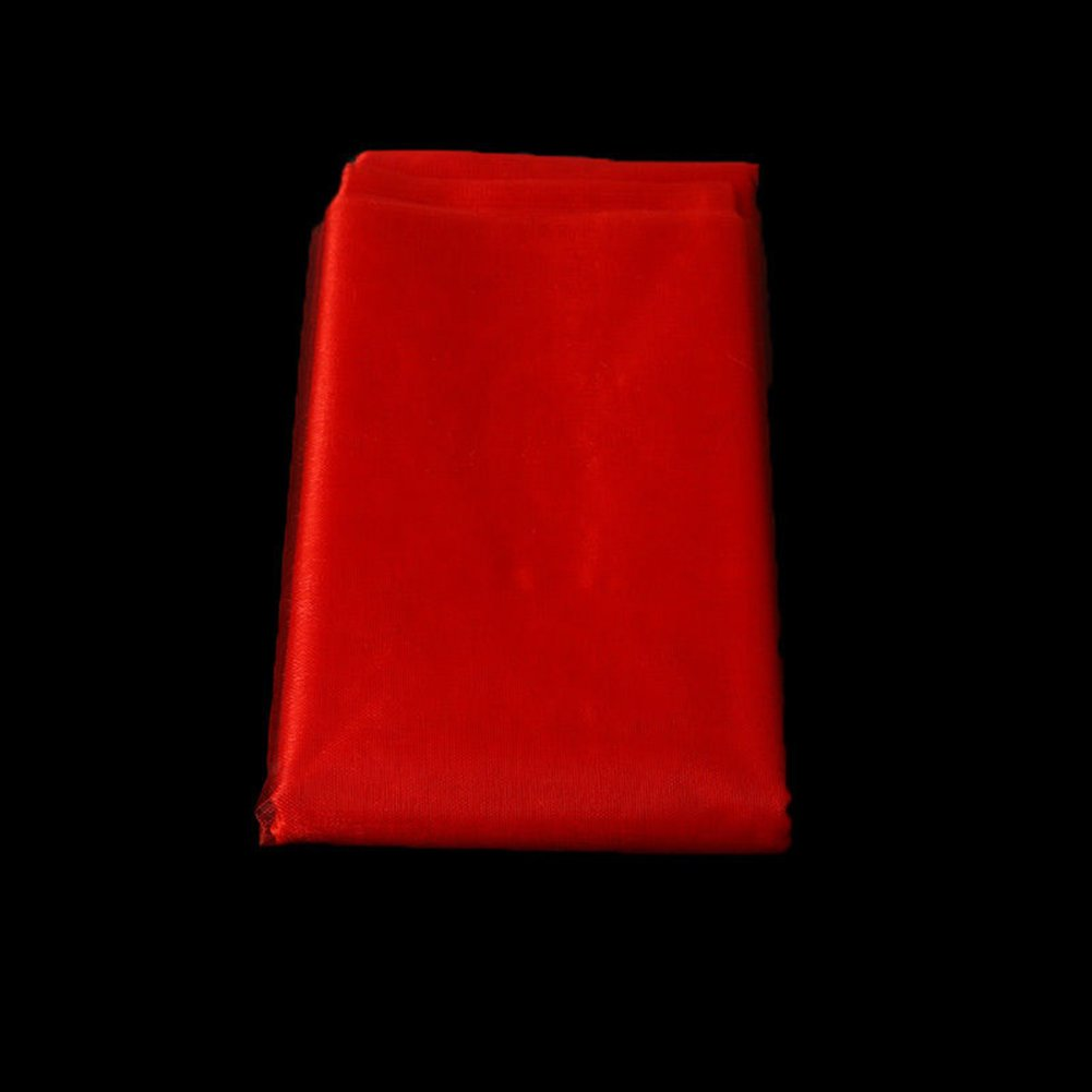Dds5391 New 10 Yards Sheer Wedding Roll Sash Gauze Chair Curtain Bow Table Runner Decor - Red