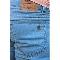 Calça masculina polo wear (Jeans délavé)