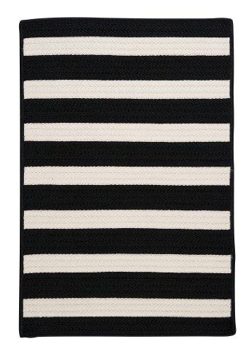Stripe It Sample Swatch Rug, Black White