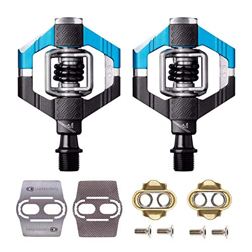 - CRANKBROTHERs Crank Brothers Candy 7 Bike Pedals Pair (Blue/Black) with Premium Cleats and Shoe Shields Set for Traction
