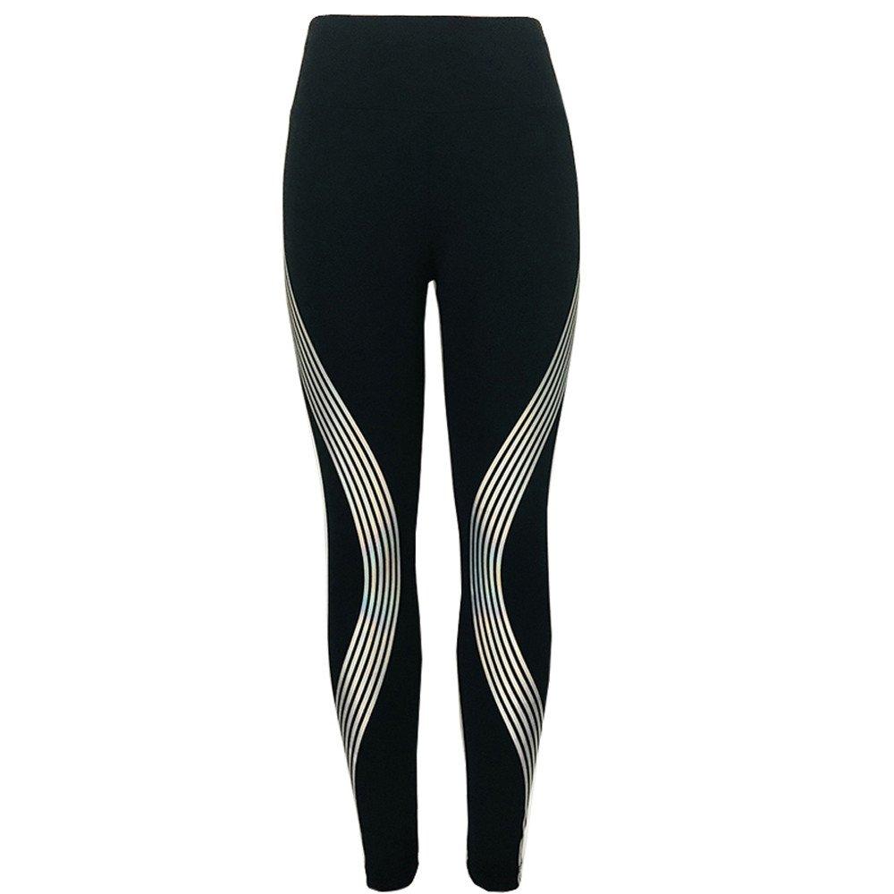 Sunyastor Women Full Length Leggings Sports Gym Yoga Workout High Waist Glow Printed Patchwork Running Pants Fitness Tights