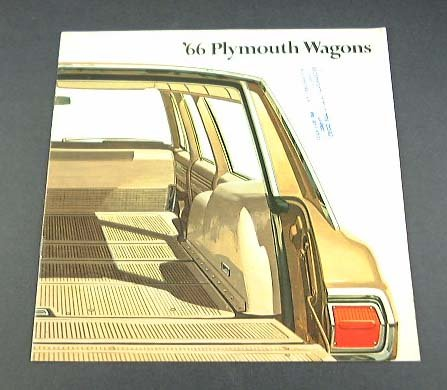 (1966 PLYMOUTH WAGONS PRESTIGE COLOR SALES BROCHURE: FURY, BELVEDERE, VALIANT - 81-505-6026 - USA - NICE !!)