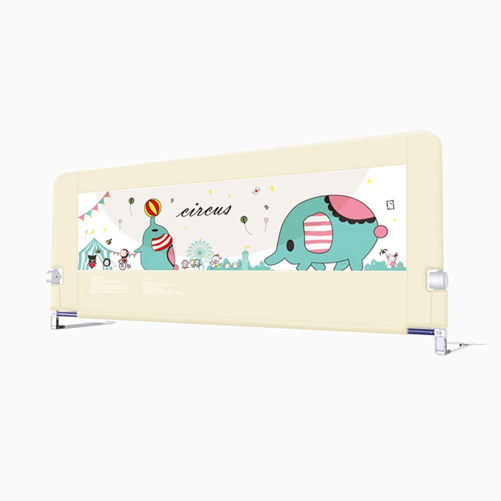 ベッドレール 隠されたボタンのベビーベッドのバンパーで調整可能な漫画のトダーベッドレール子供の下にスイングベッドレールアンチ - スマッシュバッフル (サイズ さいず : 1.5m) 1.5m  B07L4PPST6