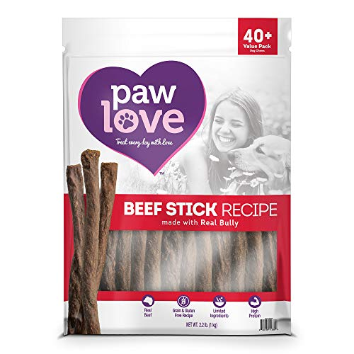 PawLove Dog Treats Quick and Crunchy Beef Stick Recipe Dog Snacks – Light and Airy Chew – Rich in Delicious Beef Flavor…