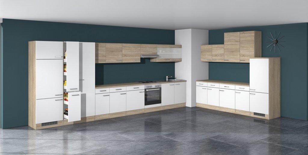 Küchen Unterschrank 50 Cm Ohne Arbeitsplatte Weiss Sonoma Eiche