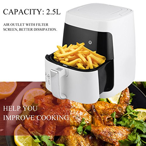 Homgrace Air Fryer, 2.5L Smokeless Electric Air Fryer Non-stick Fryer French Fries Machine 220V by Homgrace (Image #4)