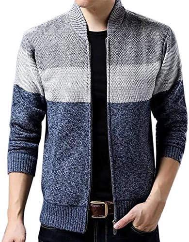 カーディガン メンズ セーター ボーダー ジャケット 長袖 裏起毛 ニットパーカー メンズ フード付き 大きいサイズ 厚手 無地 トップス 秋冬 防寒コート