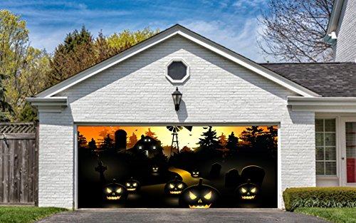 Elegant Amazon.com: Garage Door Halloween Decorations Cover Decor Pumpkins Night  Sky Billboard Outside Decoration For Garage Door Halloween: Home U0026 Kitchen