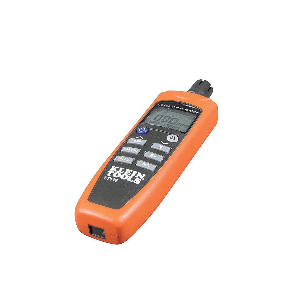 Klein Tools ET110 Carbon Monoxide Meter, Equipped With Exposure Limit Alarm, 4 x AAA Batteries and Carry Pouch Included by Klein Tools