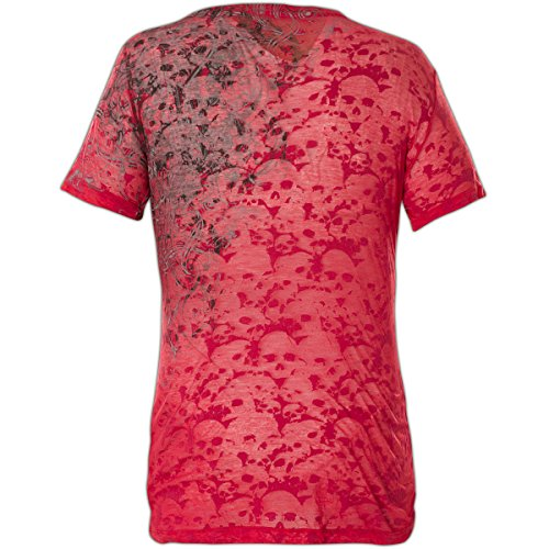 Rouge Sinful Streetwater shirt T L Pour By Taille Femme Affliction vn0dwqxv