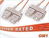 OM1 SC SC Duplex Fiber Patch Cable 62.5/125 Multimode - 100 Meter