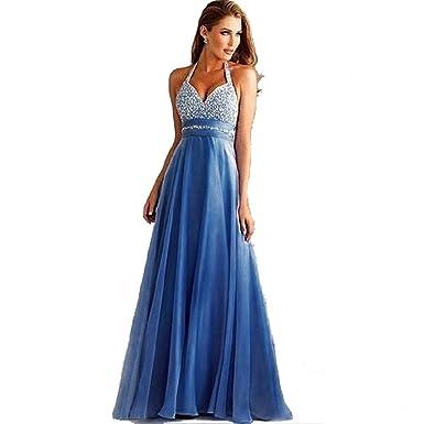 d2b9110f721 ilovgirl Long Formal Dress Elegant Evening Wear Women Sexy V Neck Sequins  Halter Neck Wedding Party