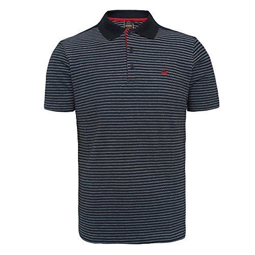 """Merc """"Roundel"""" Stripe Polo (navy) (XL)"""