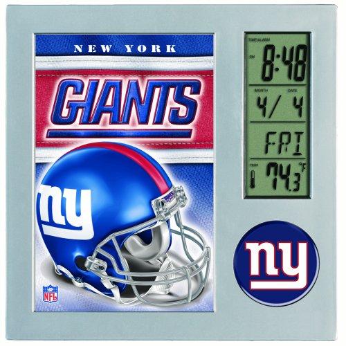 NFL New York Giants Digital Desk Clock (Giants Clock)