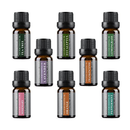Help Me Find A Gift - Aromatherapy Oils 100% Pure Therapeutic Grade Basic Essential Oil Gift Set by Wasserstein (Top 8, 10ml)