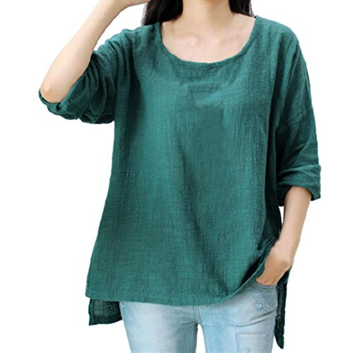 Femme Green Routinfly Chemisier Solid Dcontract gx7qZ