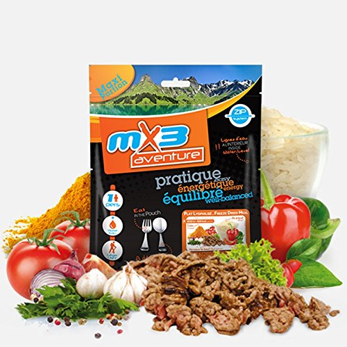 MX3 Adventure Freeze Dried Meal - Goulash de carne de vaca y arroz
