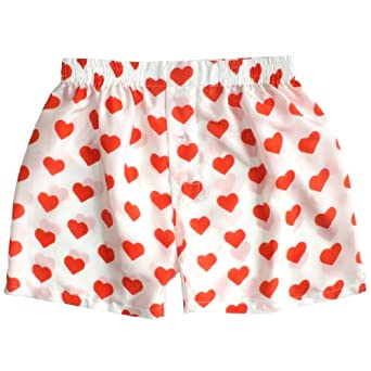 Silk Heart Boxers By ROYAL SILK Valentines Day Red On