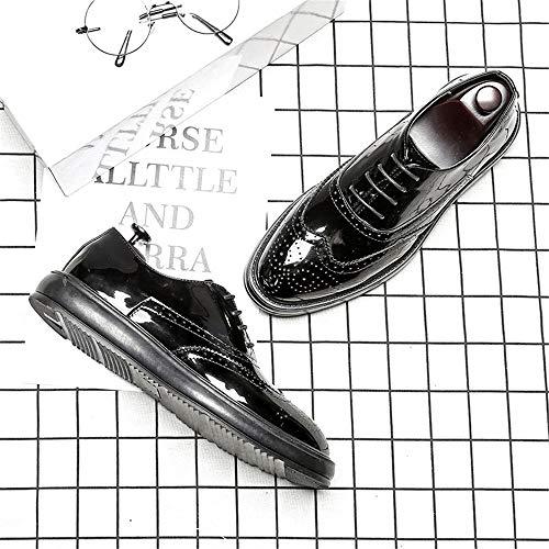 shoes De Cordones Sry Para Black Papel Hombre Zapatos Paint wZRwd7q