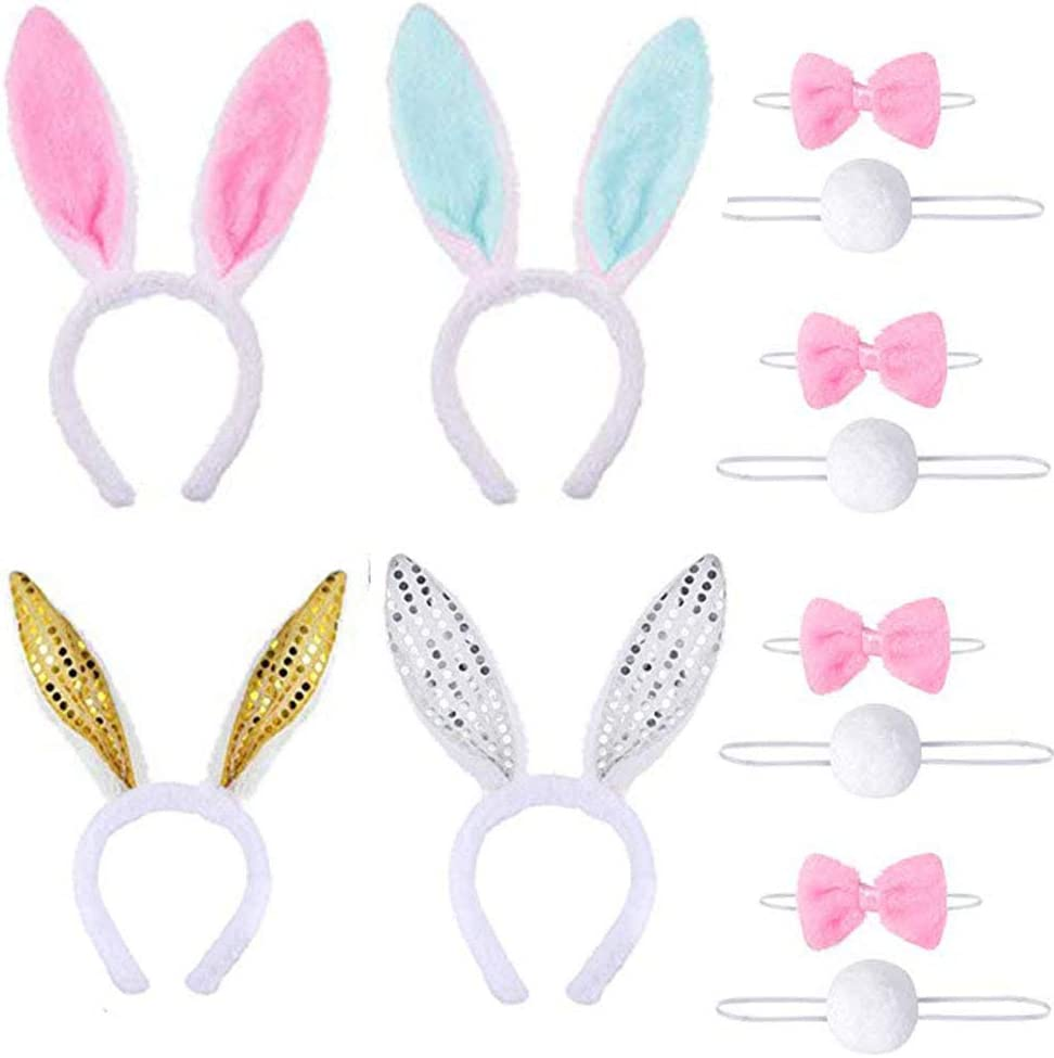 Easter Sequin Bow Bunny Ears