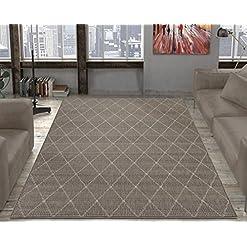 Garden and Outdoor Ottomanson Jardin Indoor/Outdoor Area Rug, Gray, 5'3″X7'3″, Grey Trellis outdoor rugs