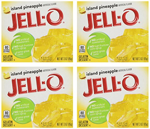 (Jell-O Island Pineapple Gelatin Mix, 3 oz Boxes (Pack of 4))