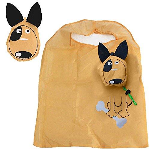 Eco Travel Foldable Handbag Grocery Tote Storage Reusable Animal Shopping Bag (Dog)