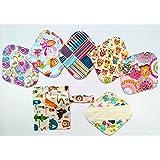 7pcs/Set 1 Wet Bag + 6pcs 8 pulgadas Bambú Gamuza de mama/almohadillas de Menstrual/Compresa reutilizable/Panties